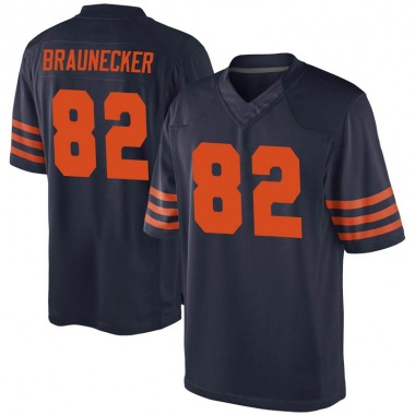 Men's Nike Chicago Bears Ben Braunecker Alternate Jersey - Navy Blue Game