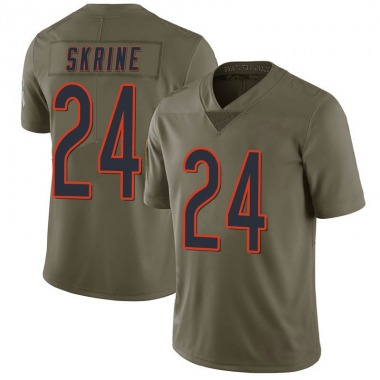 Men's Nike Chicago Bears Buster Skrine 2017 Salute to Service Jersey - Green Limited