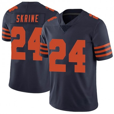 Men's Nike Chicago Bears Buster Skrine Alternate Vapor Untouchable Jersey - Navy Blue Limited
