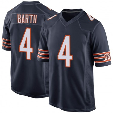 Men's Nike Chicago Bears Connor Barth Team Color Jersey - Navy Game
