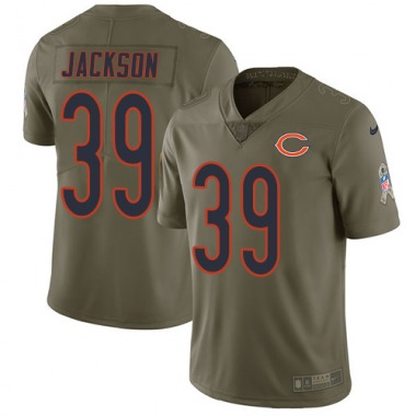 Men's Nike Chicago Bears Eddie Jackson 2017 Salute to Service Jersey - Olive Limited