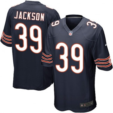 Men's Nike Chicago Bears Eddie Jackson Team Color Jersey - Navy Blue Game