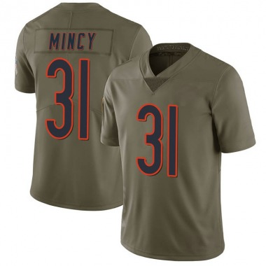 Men's Nike Chicago Bears Jonathon Mincy 2017 Salute to Service Jersey - Green Limited