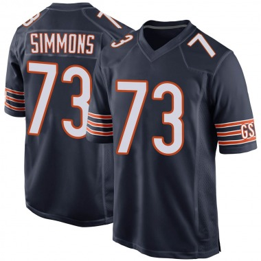 Men's Nike Chicago Bears Lachavious Simmons Team Color Jersey - Navy Game