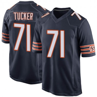 Men's Nike Chicago Bears Marquez Tucker 100th Season Jersey - Navy Game