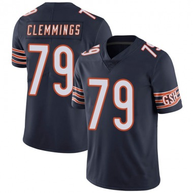 Men's Nike Chicago Bears T.J. Clemmings Team Color Vapor Untouchable Jersey - Navy Limited