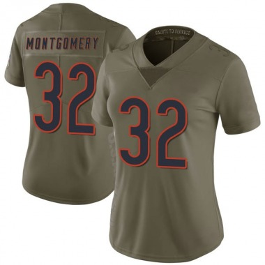 Women's Nike Chicago Bears David Montgomery 2017 Salute to Service Jersey - Green Limited