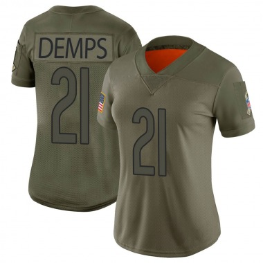 Women's Nike Chicago Bears Quintin Demps 2019 Salute to Service Jersey - Camo Limited
