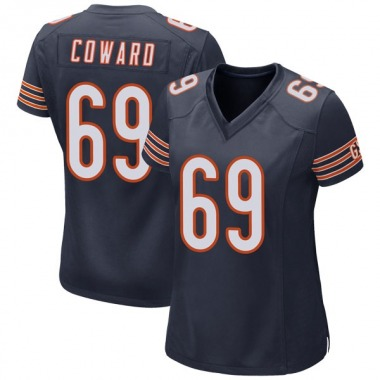 Women's Nike Chicago Bears Rashaad Coward Team Color Jersey - Navy Game