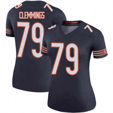 Women's Nike Chicago Bears T.J. Clemmings Color Rush Jersey - Navy Legend