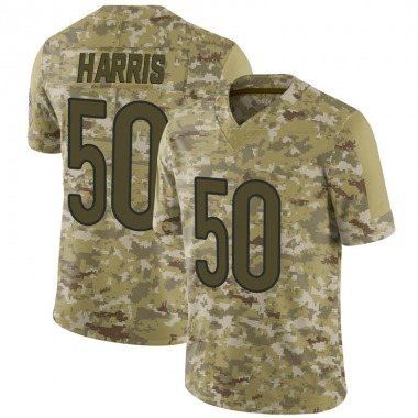 Youth Nike Chicago Bears Chuck Harris 2018 Salute to Service Jersey - Camo Limited